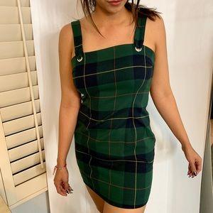 Dresses - Stylish green squared pattern dress
